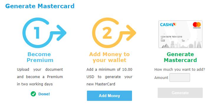 创建虚拟信用卡