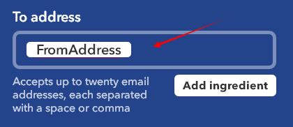 回复邮件的地址