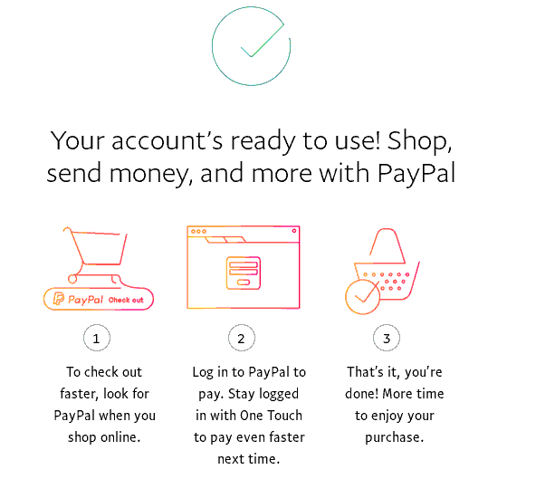 PayPal绑卡成功