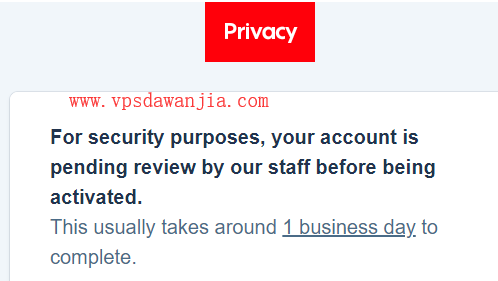Privacy帐号被人工审核